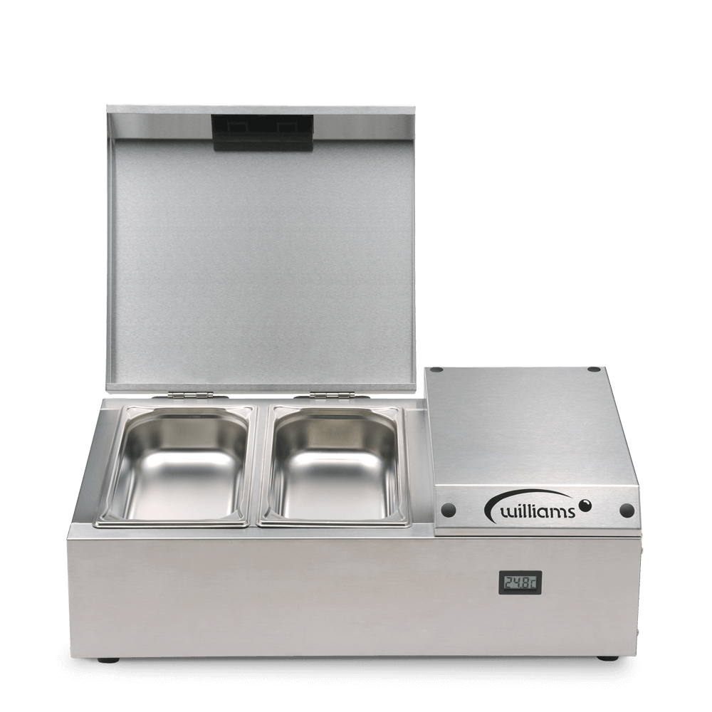 Counter Top Refrigerated Thermowell - TW4 - Front on Pans Open