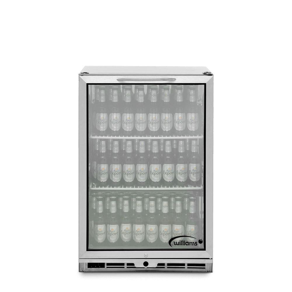 One Door Bottle Cooler - Front On - Stocked