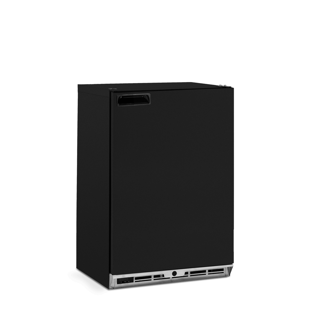 One Door Bottle Cooler - Solid Door - Black Finish