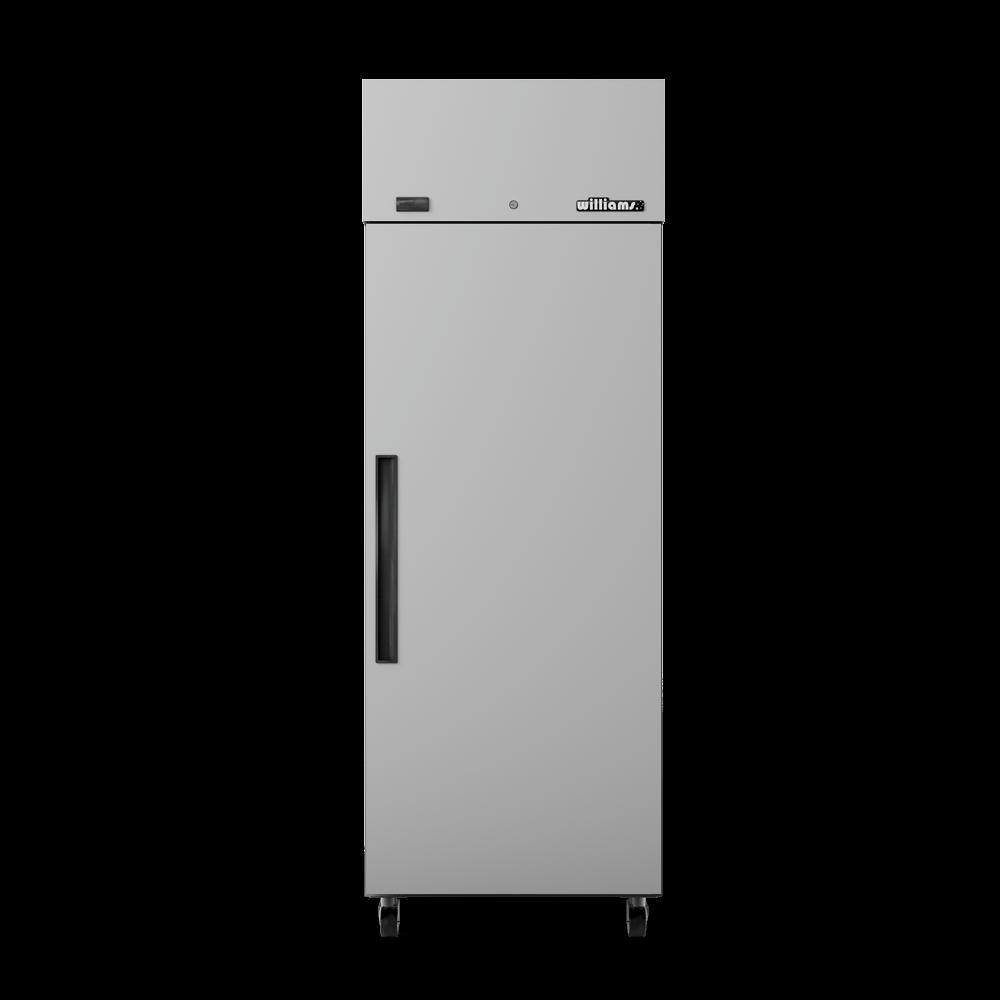 Upright Crystal 1 Door Cabinet - Door Closed - Front On