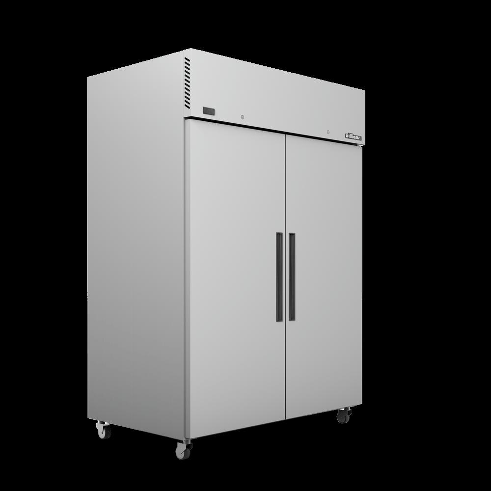 Upright Crystal 2 Door Cabinet - Doors Closed - Side On