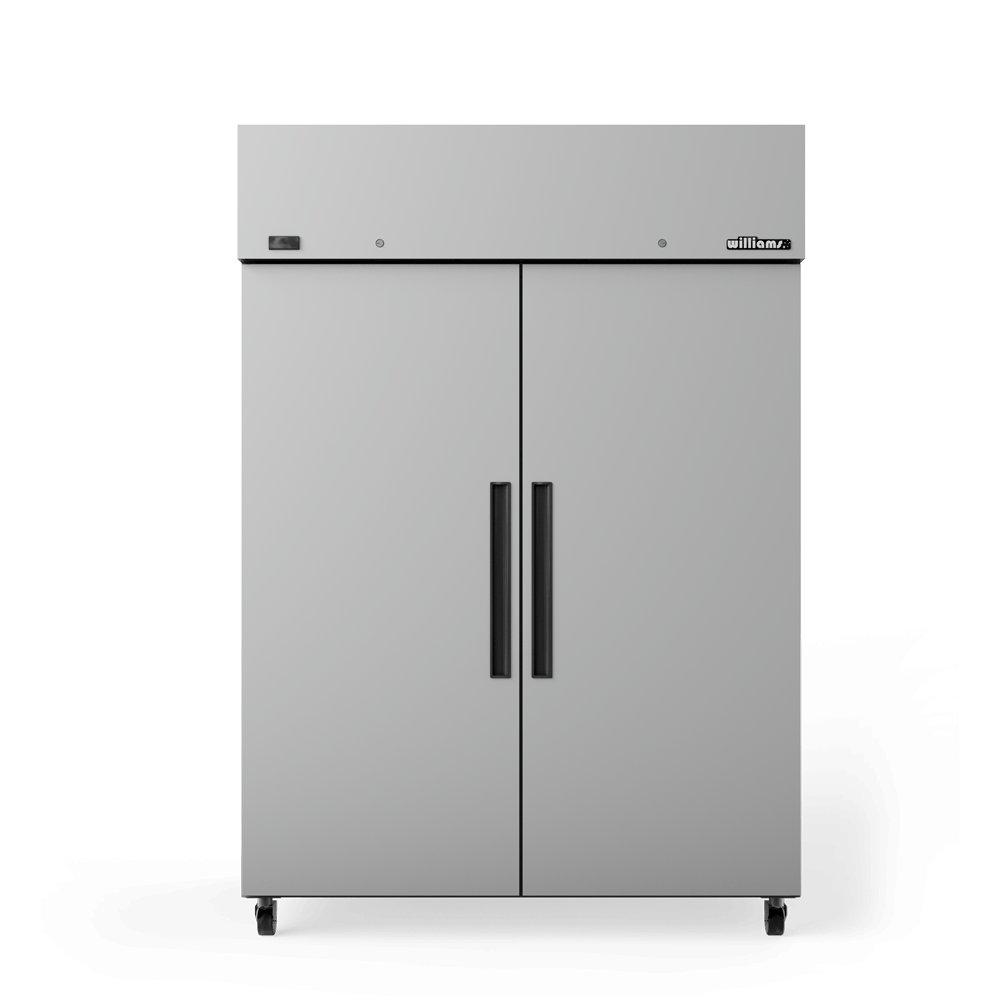 Upright Crystal 2 Door Cabinet - Doors Closed - Front On