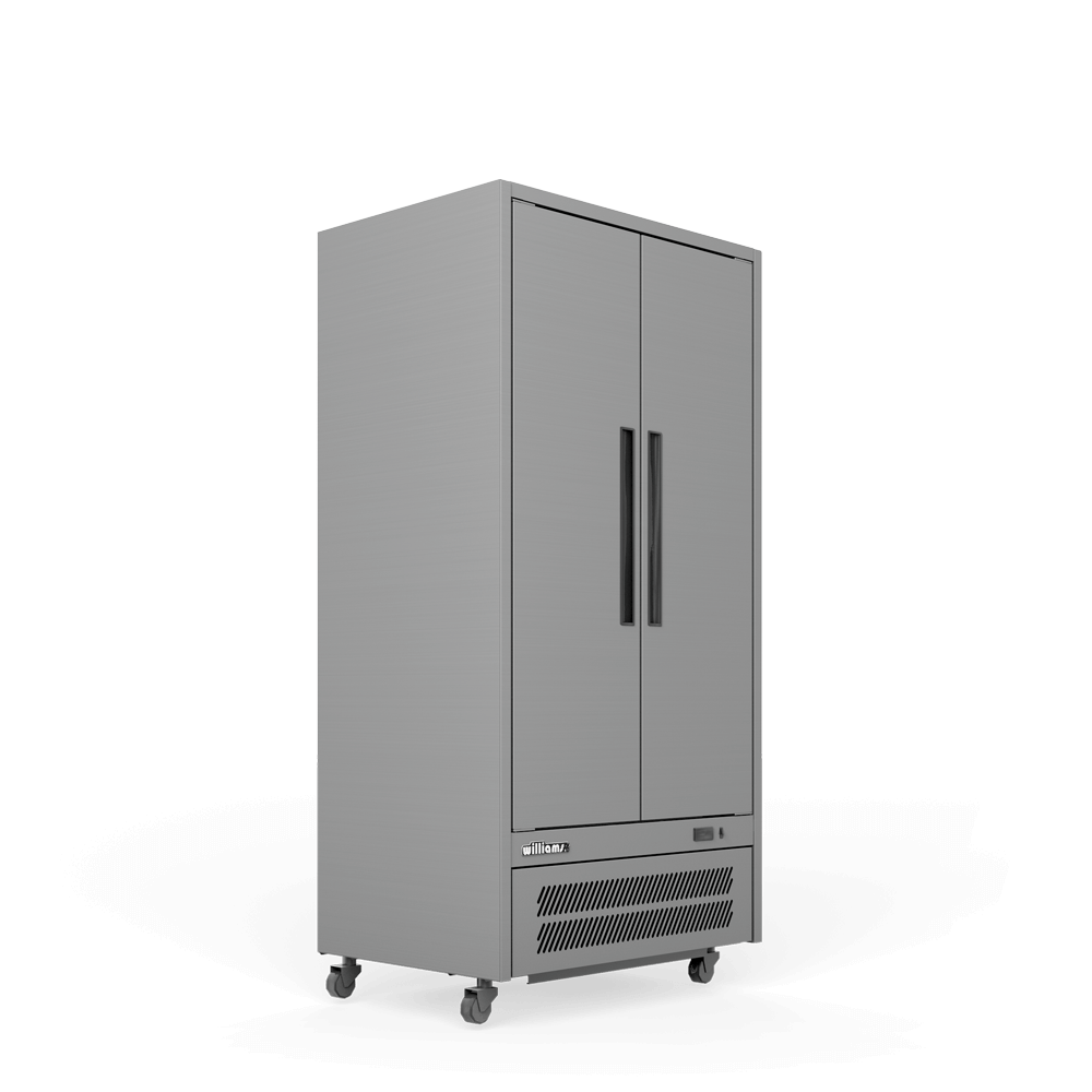 Upright Quartz Q2 Cabinet - Solid Doors - Side On