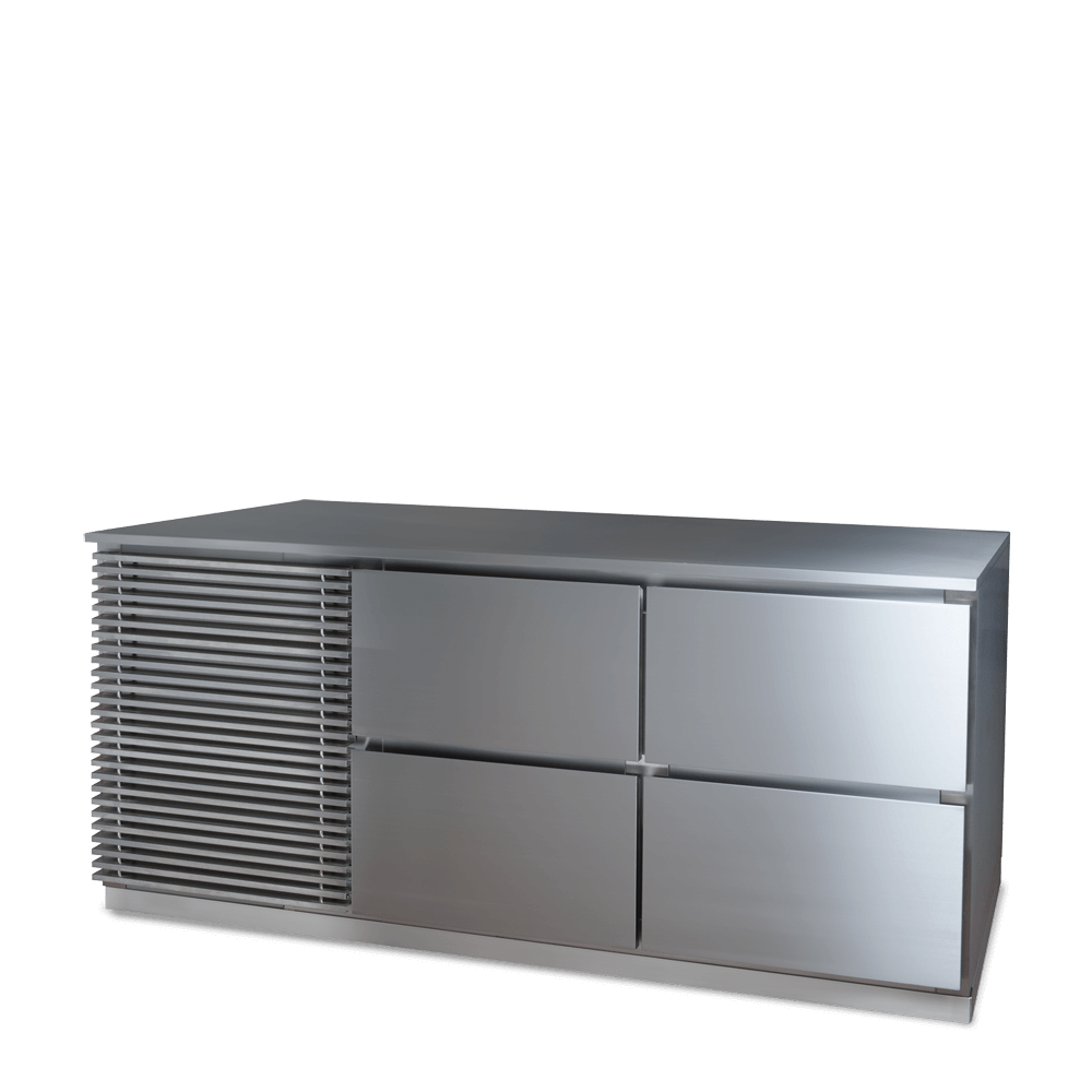 Refrigerated 2 Door Counter with drawers
