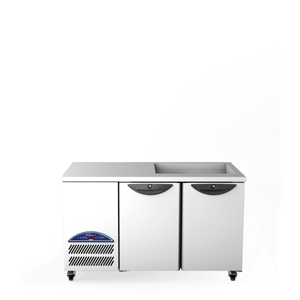 Opal Two Door Refrigerated Counter - Front On - Cut Out Well