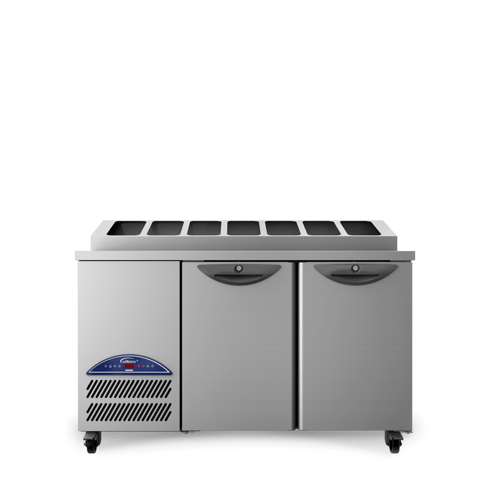 Opal Two Door Refrigerated Counter - Front On - Raised Pan Holders