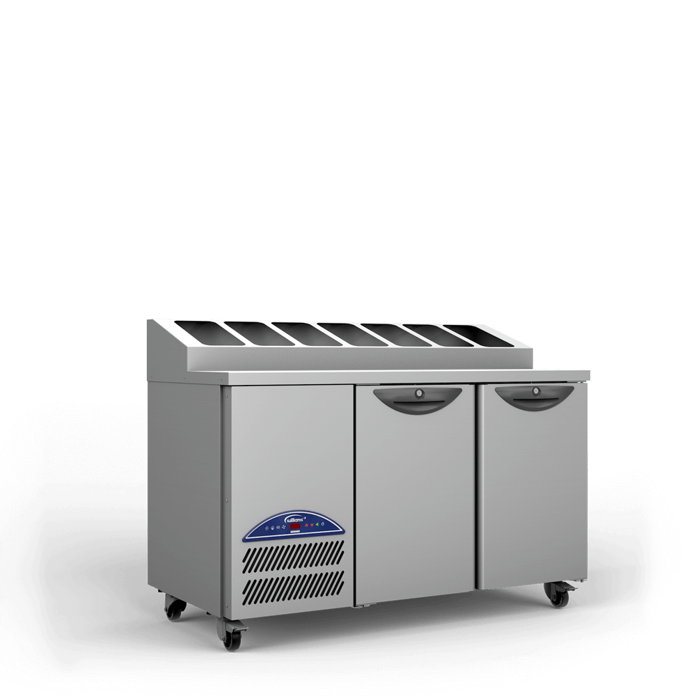 Opal Two Door Refrigerated Counter - Side - Raised Pan Holders