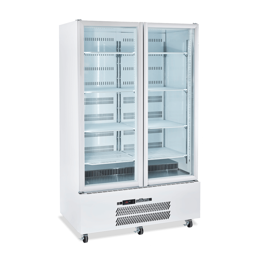 Upright Quartz Q2 Cabinet - Glass Doors - Side On