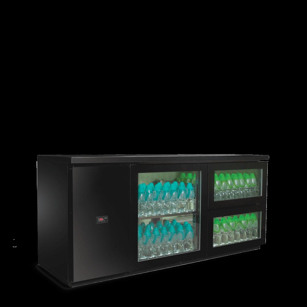 黑色平台饮料柜