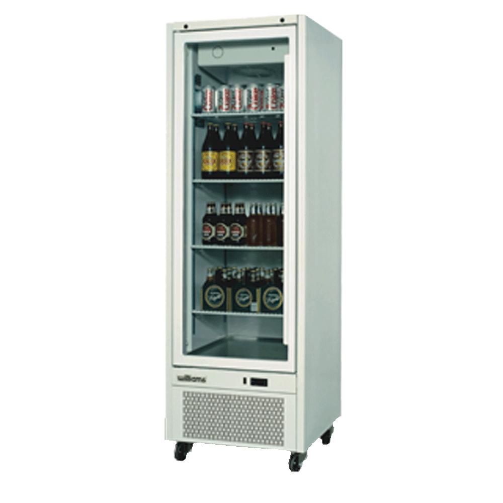Upright Quartz Q14 Cabinet - Glass Doors - Side On