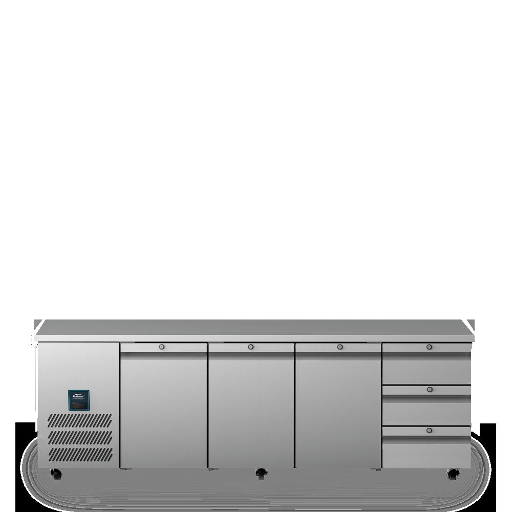Jade Four Door Refrigerated Counter U1113