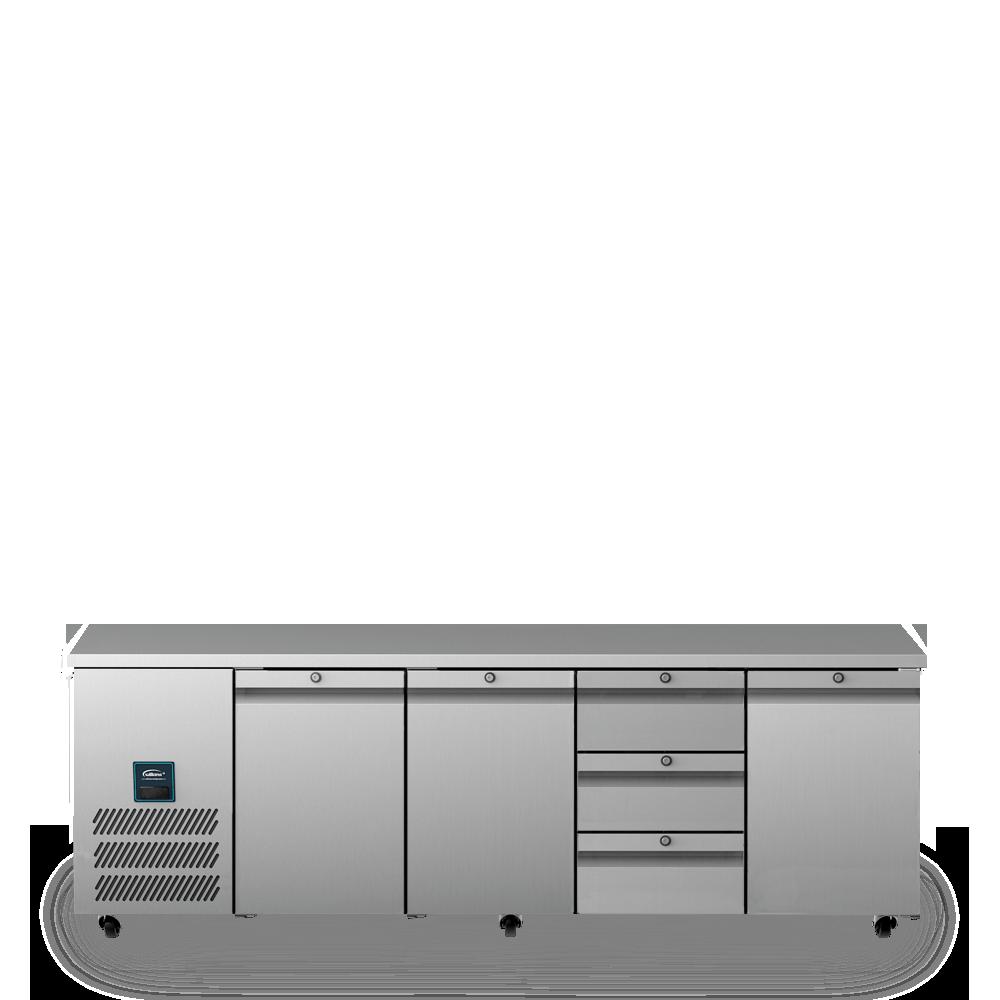 Jade Four Door Refrigerated Counter U1131