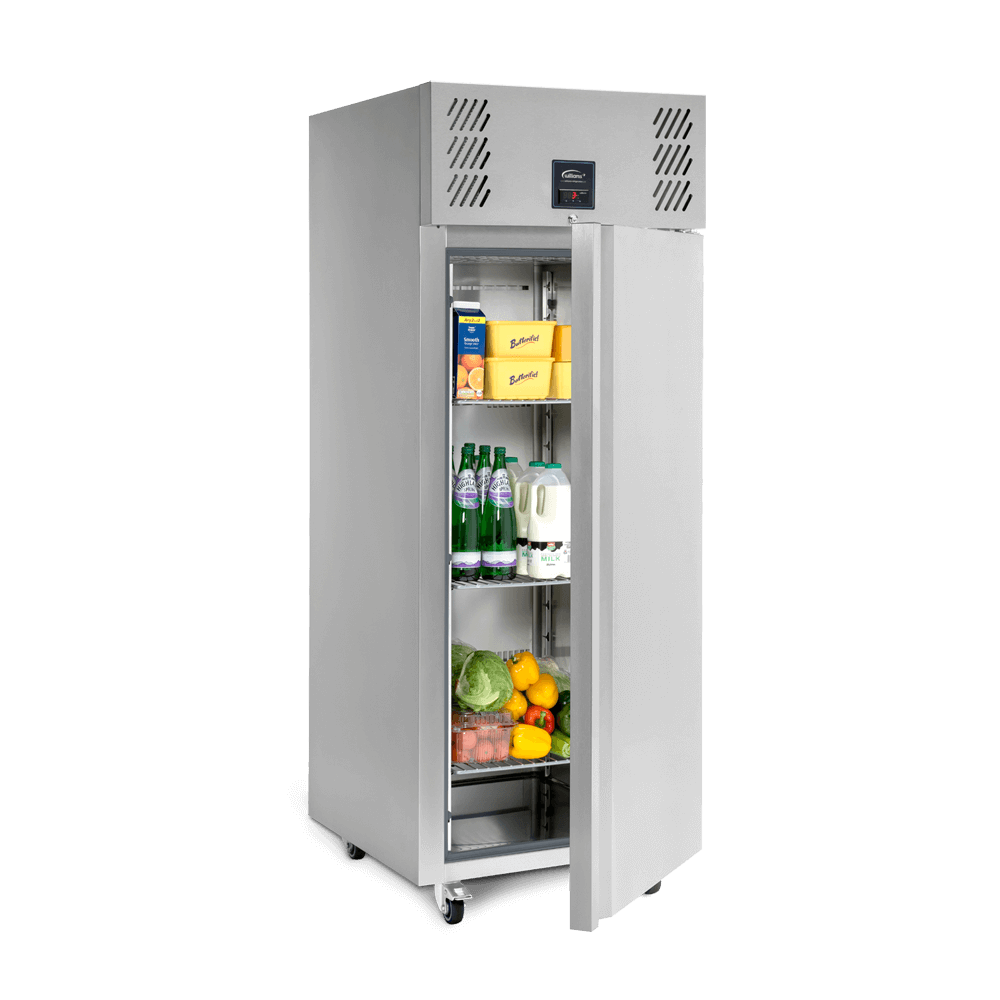 Jade J1 Upright Refrigerated Cabinet Stocked.