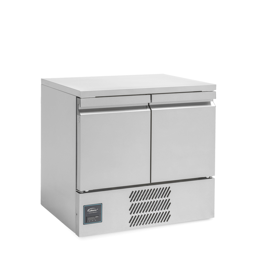 Aztra AZ10CT Two Door Undercounter Refrigerated Cabinet - Side On.