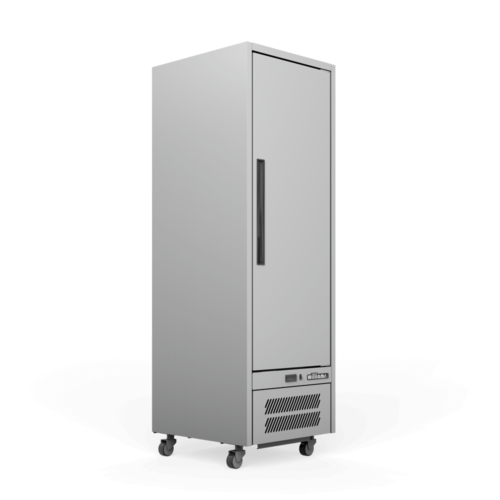 Upright Quartz Q1 Cabinet - Solid Door - Side On.