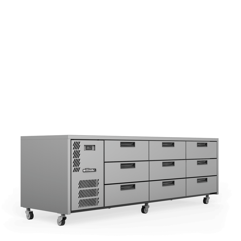 Emerald - E3U - 3 bank of 3 drawers - Side On.