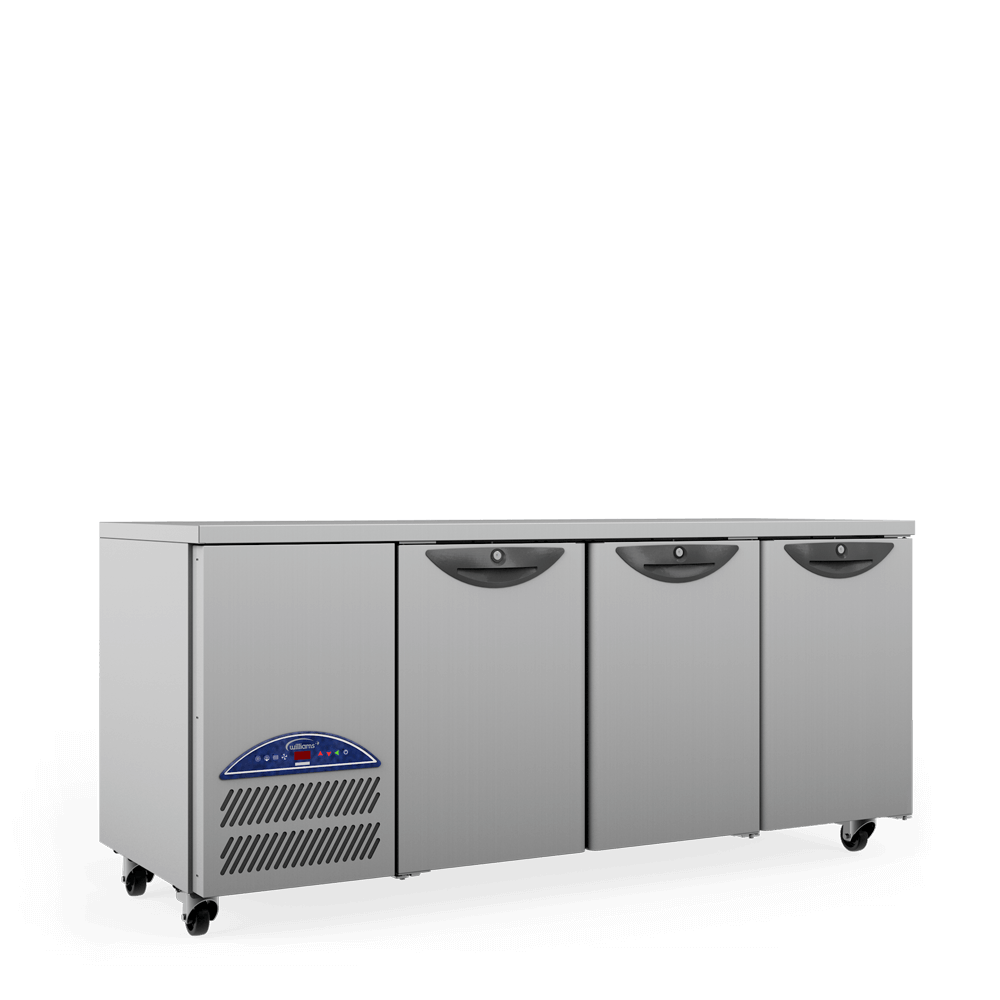 Opal Three Door Gastronorm Refrigerated Counter - Side On.