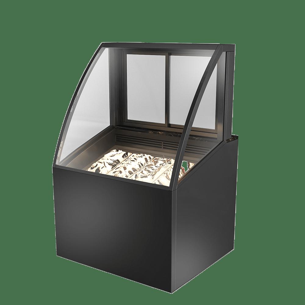 Curved Ice-cream Display Showcase IC-U-900-HG-C