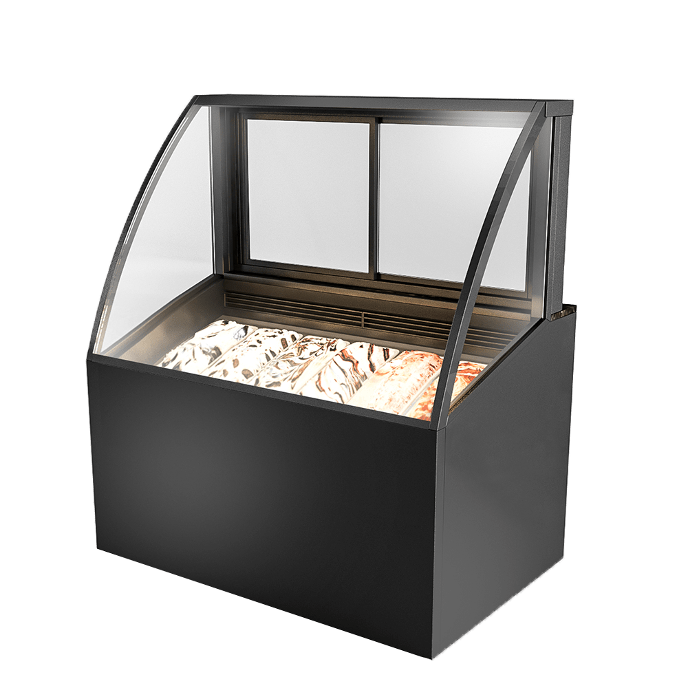 Curved Ice-cream Display Showcase IC-U-1200-HG-C