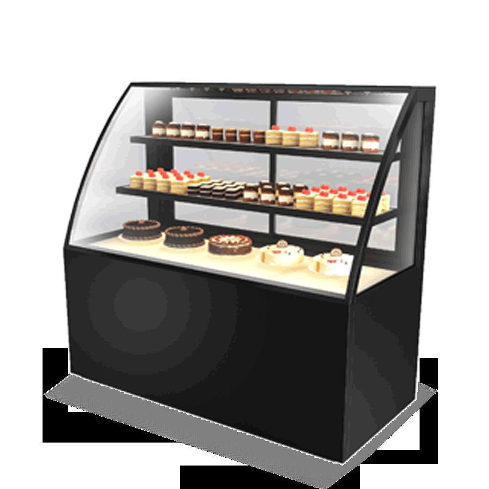 Curved Cake Display Showcase CAKE-U-1500-HG-C