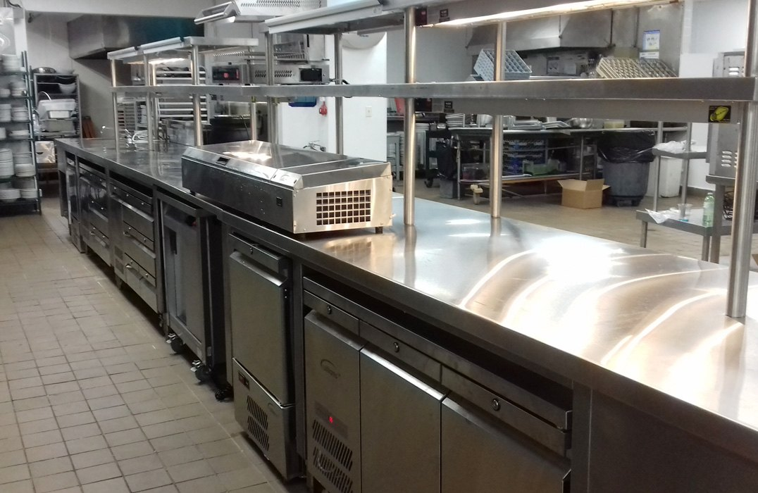 Refrigerated counters at Renaissance Carambola.
