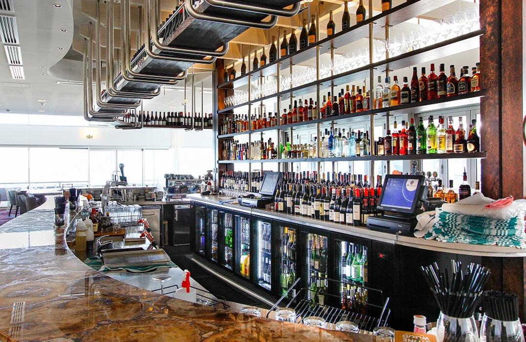 The Hamptons bar area