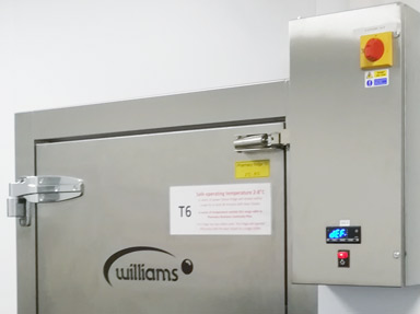 Williams Pharmaceutical Coldrooms.