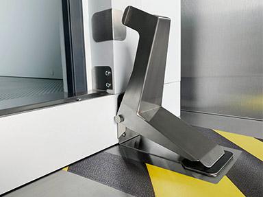 Williams foot operated door opener.